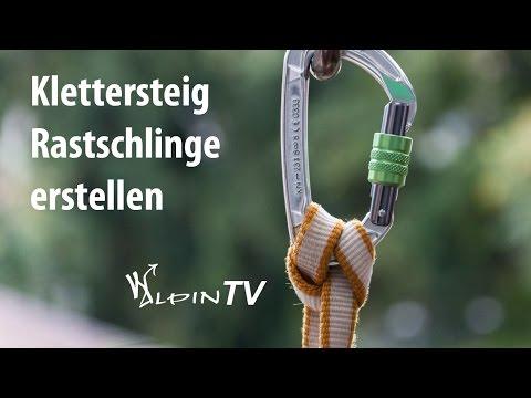 WAlpin TV - Klettersteig Rastschlinge erstellen