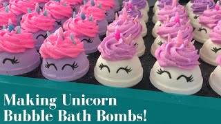 Making I Am A Unicorn Bubble Bath Bombs | With The Bath Bomb Press
