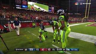 Russell Wilson INSANE Sack Escape & Connection With Doug Baldwin! | Seahawks vs. Cards | NFL