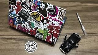 StickerBomb - Eski Laptop - Yeni Görünüm - Nasıl Yapılır - Sticker Sanatı