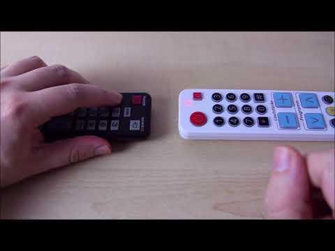 TV-Info-Quelle Profi Fernbedienung einrichten (Lernfunktion)