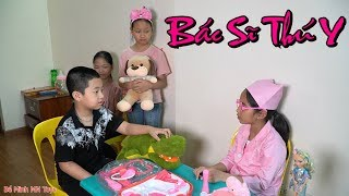 Trò Chơi Bé Tập Làm Bác Sĩ Thú Y Khám Bệnh - Đồ Chơi Trẻ Em - Bé Minh MN Toys