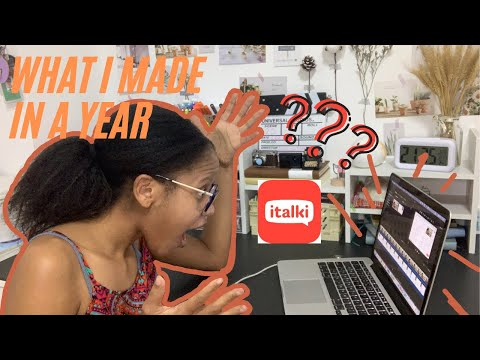 How much I made in a year teaching online   italki