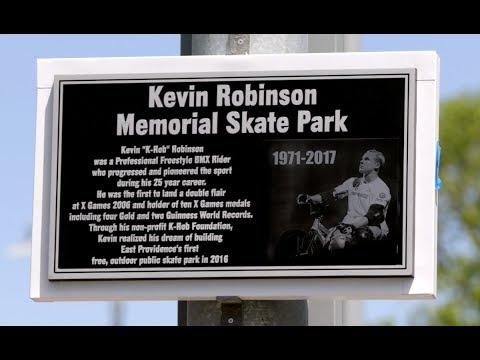"East Providence dedicates the Kevin ""K-Rob"" Robinson Memorial Skate Park"