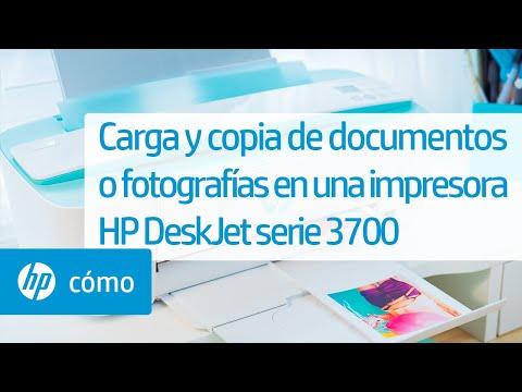 Carga y copia de documentos o fotografías en una impresora HP DeskJet serie 3700