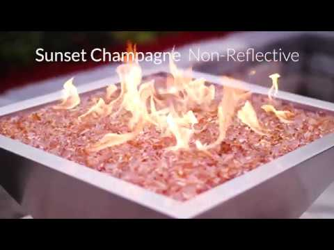 Sunset Champagne Non-Reflective Fire Glass | Lakeview Outdoor Designs