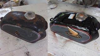 Honda CD90 Benly Petrol Tank Restoration