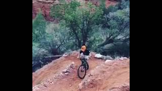 Conquering the switchback climb on the Kiowa Trail. Trail was built by the Palo Duro Canyon Corps of Engineers. Video: Chris Podzemny