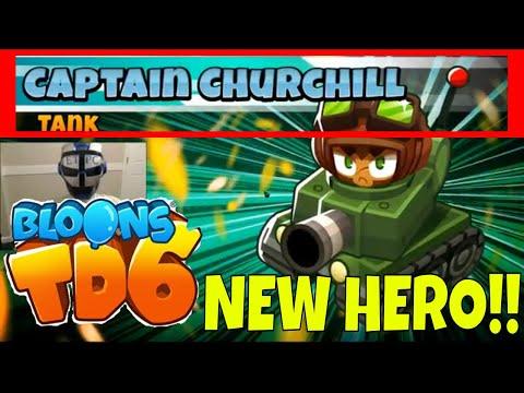 NEW HERO! CAPTAIN CHURCHILL! Bloons TD 6 - смотреть онлайн