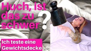 Besser schlafen mit Therapiedecke? Meine Erfahrung mit einer Gewichtsdecke