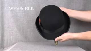 WF506-BLK Шляпа фетровая Scala DERBY