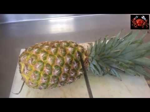 Como cortar una piña o ananás