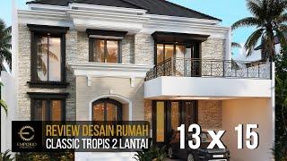 Video Desain Rumah Classic 2 Lantai Bapak Borsin di  Tangerang, Banten