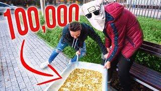 100,000 GROSZY PRANK NA KAMERZYŚCIE! *wkurzył się*
