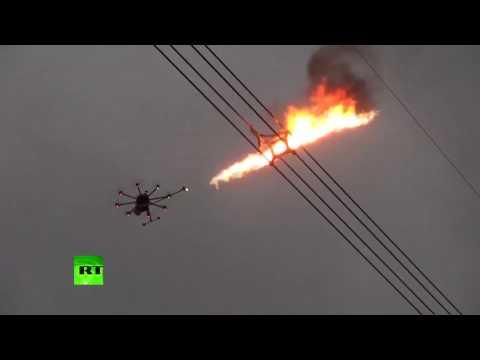 Future of garbage disposal: China tests flame-throwing drones