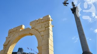 Palmyra's Arch of Triumph replica erected in central London