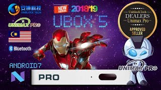 UNBLOCK TECH UBOX 5 UPRO I900 Pro Android 7.0 TV Box KODI Gen5 SmartOS