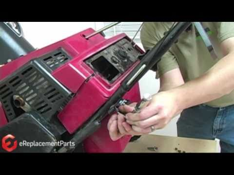 how to fix a yardworks snowblower gas cable