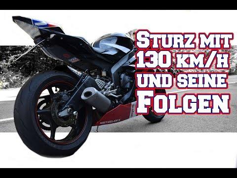 Rutscher mit 130km/h und seine Folgen - Yamaha R6 Lowsider auf der Rennstrecke