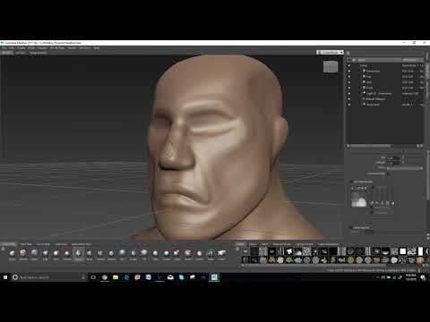 Mudbox Tutorial: Head Sculpt 01 - Corral Breding