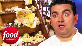 🔴Sweet 16 Birthday Cake Falls Down Stairs!   Cake Boss