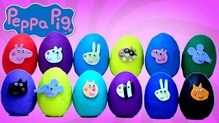 PEPPA LA CERDITA Huevos Sorpresa Play-Doh De Peppa Pig Y Sus Amigos Apertura Y Contar