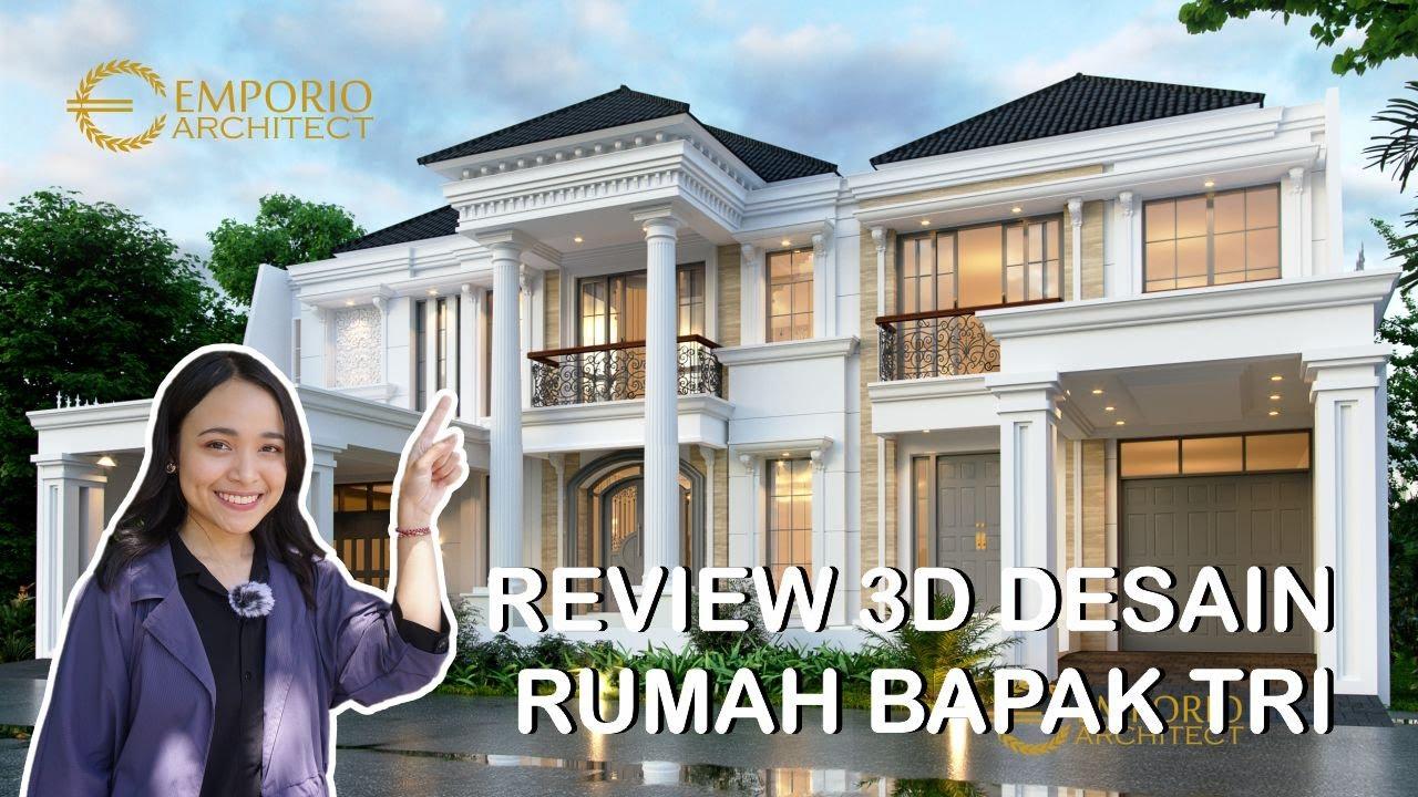 Video 3D Desain Rumah Classic 2 Lantai Bapak Tri - Bekasi, Jawa Barat