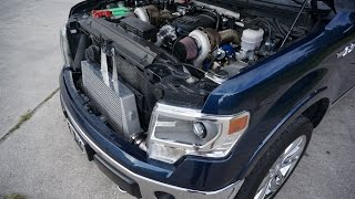 Twin Turbo F150 5.0L   Tuned by MPT   Built by Gearhead Fabrications