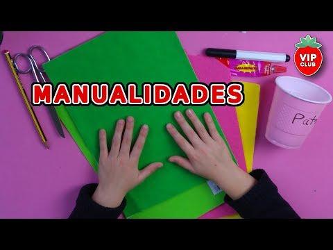 Manualidades: cómo hacer una fresa con papel de fieltro adhesivo