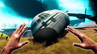 Plane Crash Island Survival in VR - Survival Simulator VR Gameplay