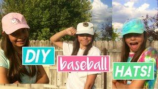 Easy DIY Baseball Patch Hats | My Life Fast Forward