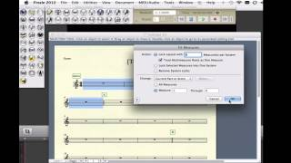 Fit measures into systems using Finale 2012