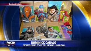 Dad creates works of art on lunch bags