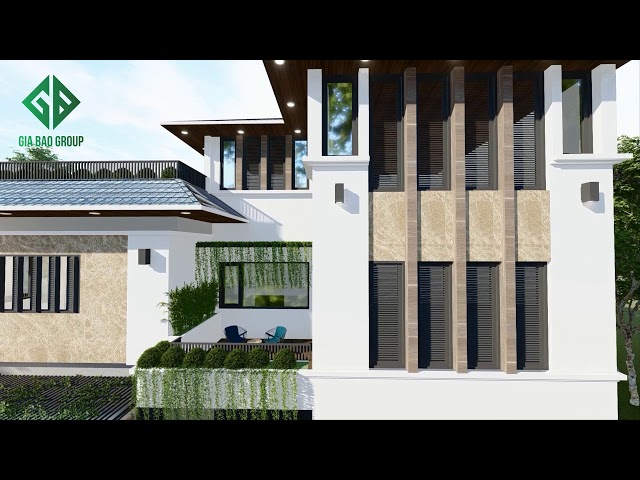 Thiết kế biệt thự hiện đại mái bằng, không gian mở tuyệt đẹp tại Phan Thiết