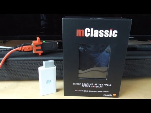 mClassic Test with Nintendo Switch & Wii (Wii2HDMI) on Panasonic TX 50GX800B