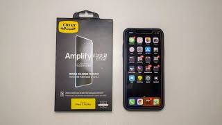 Otterbox Amplify Edge2Edge Glass Protector Unboxing & Install - iPhone 11/Pro/Pro Max