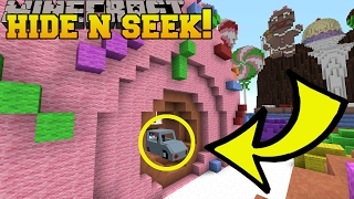 Minecraft: I AM A CAR!!! VEHICLES Hide And Seek   Modded Mini Game