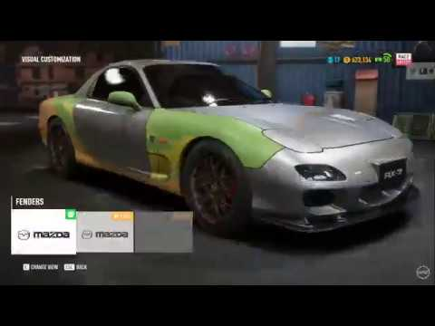 NFS Payback - Abandoned RX-7 But Every Crash Changes The Eurobeat