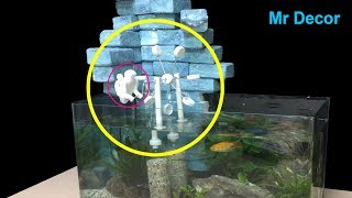How To Make Waterwheel Relaxation in Aquarium | You can do at home