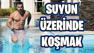SUYUN ÜZERİNDE KOŞU YARIŞI YAPTIK!!