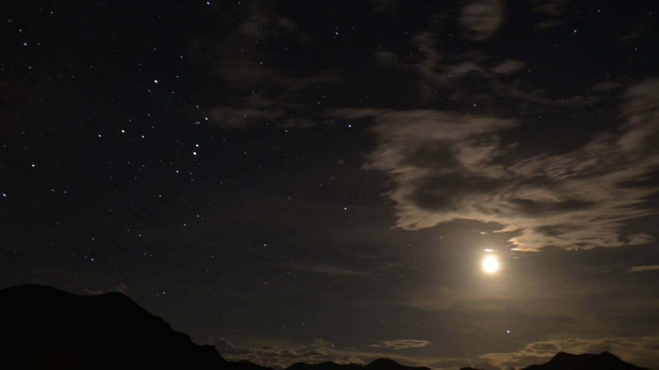 7 second time lapse of the southern sky