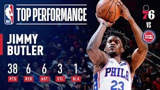Jimmy Butler Scores 38 and Helps Lead Comeback vs Pistons   December 7, 2018