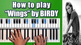 "Birdy - ""Wings"" piano tutorial - How to play piano chords - Fire Within Album - Nikolas Nunez"