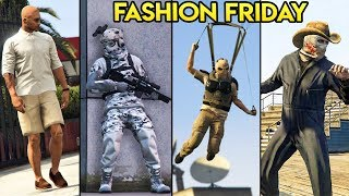 GTA Online: 10 AWESOME Outfits (Ice Camo, Casual Rich Guy, The Vinewood Butcher & MORE)