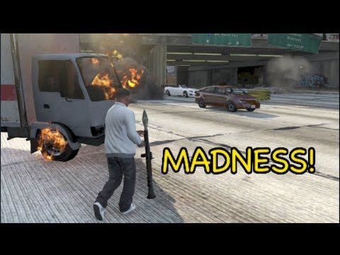 FUNNIEST GTA 5 GAMEPLAY EVER!? [MADNESS]
