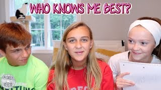 WHO KNOWS ME BEST? BROTHER VS BROTHER'S GIRLFRIEND