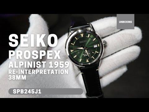 Seiko Prospex Alpinist 1959 Re-Interpretation Automatic Green Dial Leather Watch SPB245J1