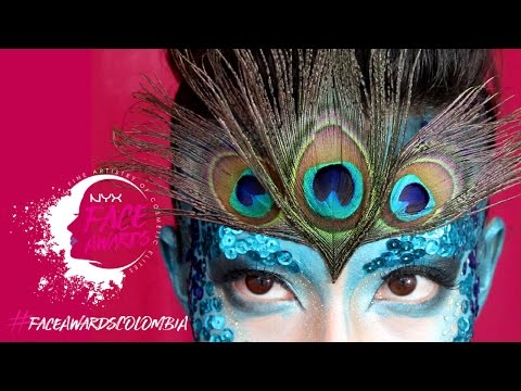 NYX FACE AWARDS COLOMBIA 2017 - Entrada - Pavo Real makeup tutorial