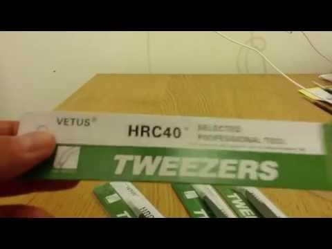 Banggood 4pcs Anti-static Tweezers
