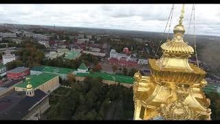 Дрон попадает в православный крест и спасается Троице-Сергиева лавра